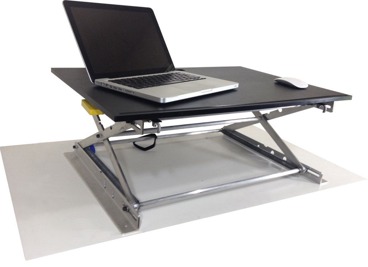 riseup table top affordable standing desk. Black Bedroom Furniture Sets. Home Design Ideas